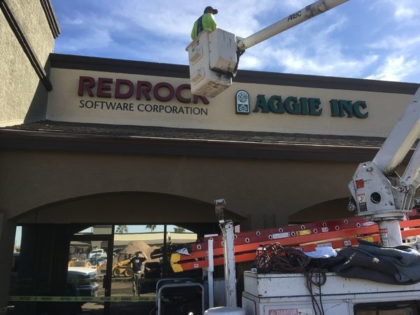 Building Sign For Redrock Software Corporation
