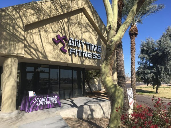 Exterior Building Sign For Anytime Fitness